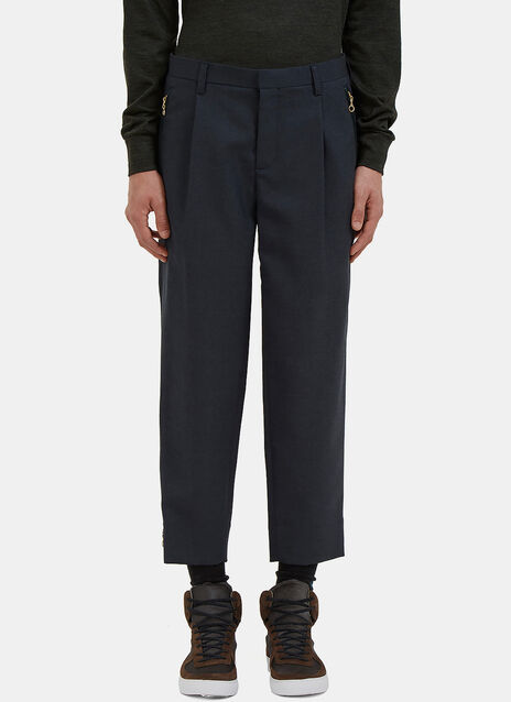 Relaxed Fit Wool Pants