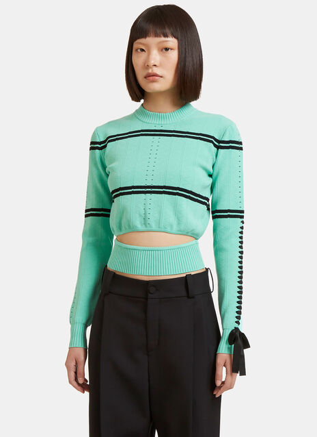 Zigzag Knit Cut-Out Sweater