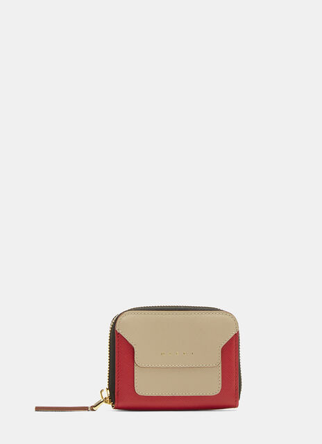 Marni Bi-Colour Saffiano Leather Wallet