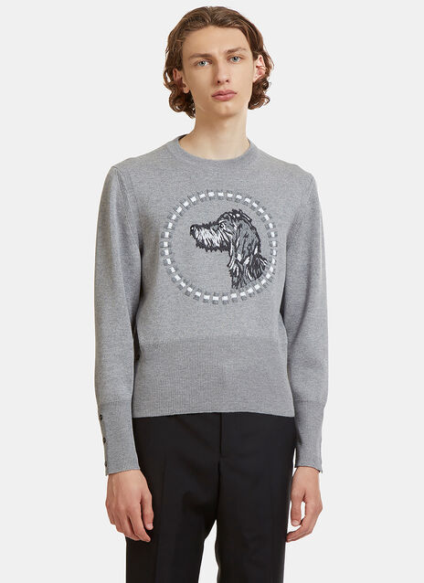 Hector Browne Embroidered Crew Neck Sweater