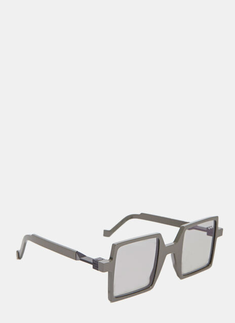 VAVA VAVA WL0002 SUNGLASSES IN GREY WITH BLACK LENSES
