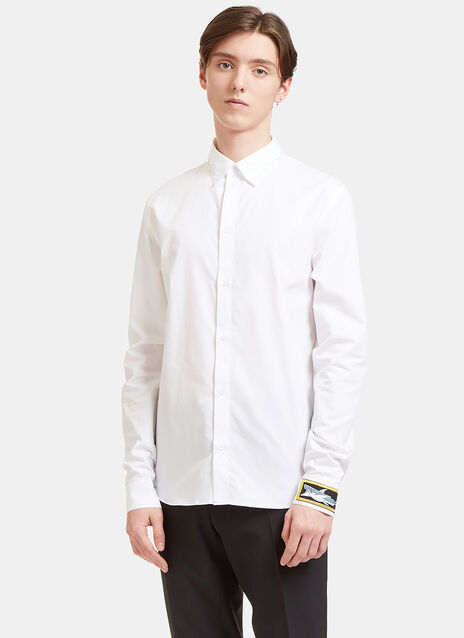 Rainbow-Stitched Poplin Shirt