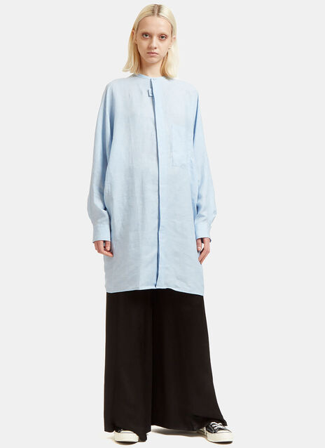 Siva Linen Soft Pop Shirt Dress