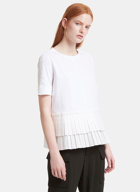 Ruffled Pleat T-Shirt
