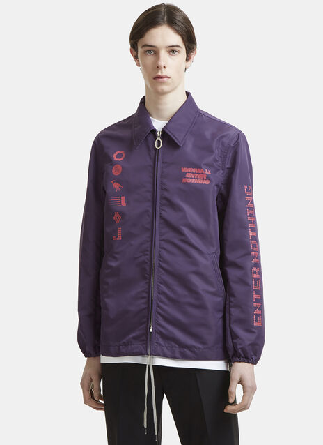 Lanvin Enter Nothing Symbol Print Coach Jacket