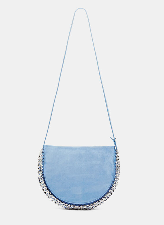 Paco Rabanne Suede Chain Mail Shoulder Bag