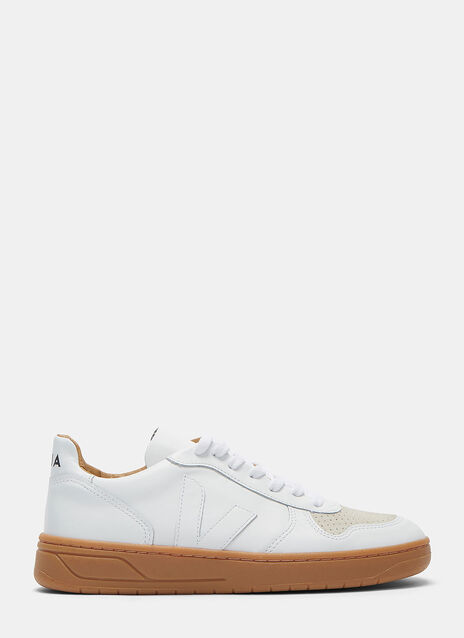 V-10 Bastille Mid-Top Leather Sneakers