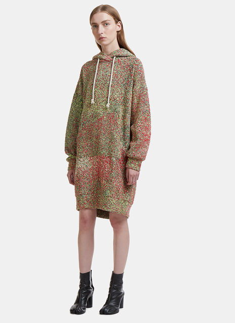 Anntian Speckled Schooler Hoodie Dress