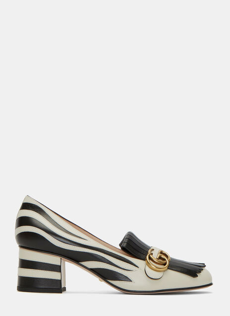 Heeled Zebra Loafers