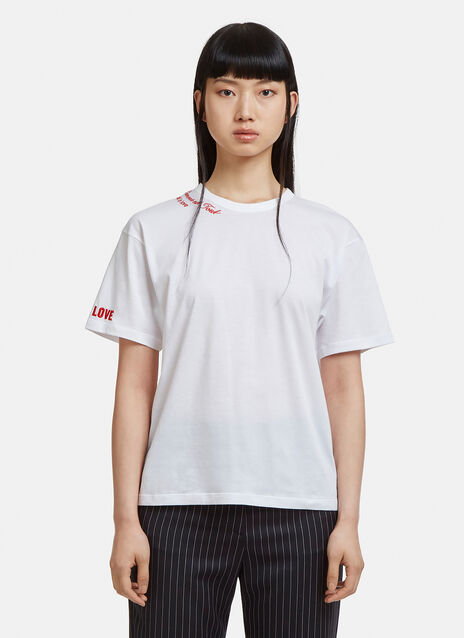 Stella Mccartney Embroidered All is Love T-shirt