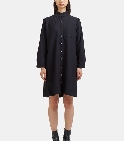 Long Band Collared Tunic Shirt