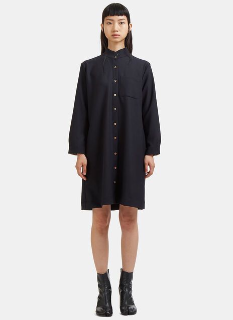 Marvielab Long Band Collared Tunic Shirt