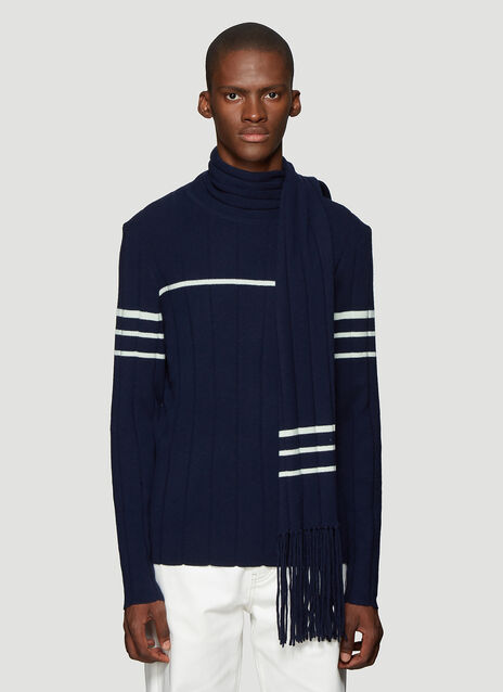 JW앤더슨 JW Anderson Scarf Knit Sweater in Navy