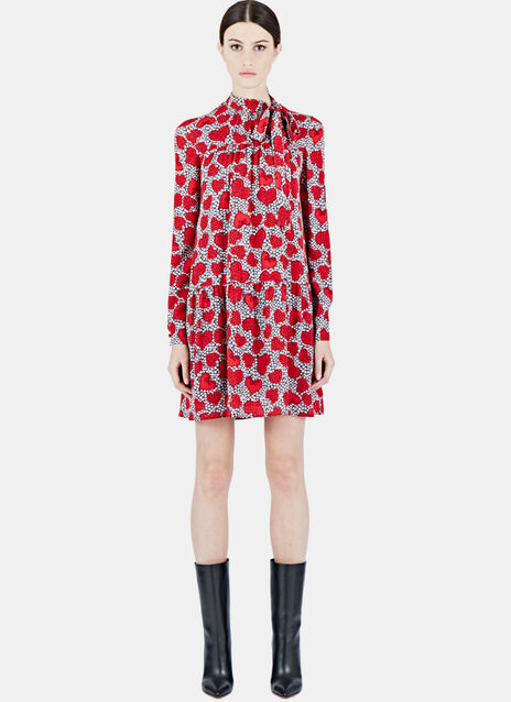 Valentino Floral Heart Print Dress