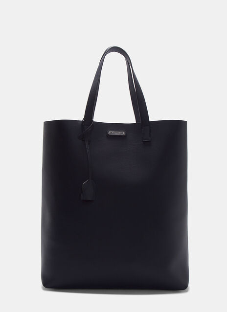Rectangular Leather Tote Shopper Bag