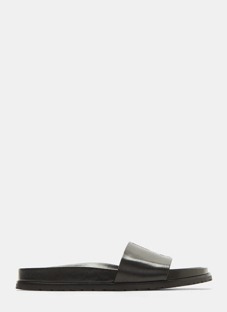Saint Laurent Jimmy Logo Embroidered Sandals