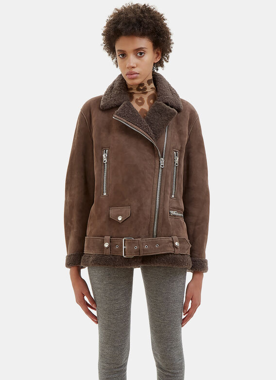 Acne Studios More Sue Oversized Shearling Jacket
