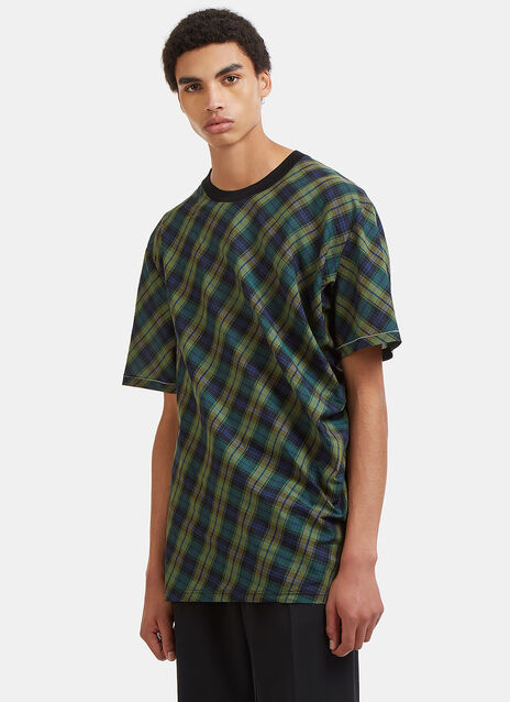 Boxy Checked Poplin T-Shirt