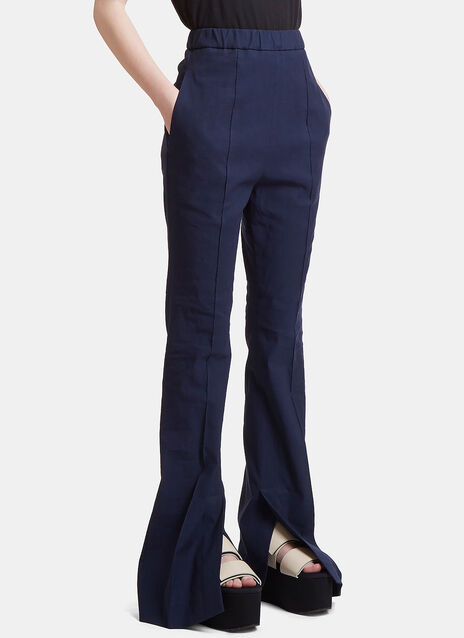 Flared High-Waisted Pants
