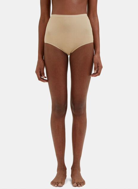 High-Waisted Bell Ribbed Underpants