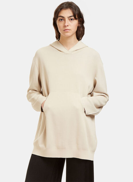 Oversized Bi-Colour Hooded Sweater