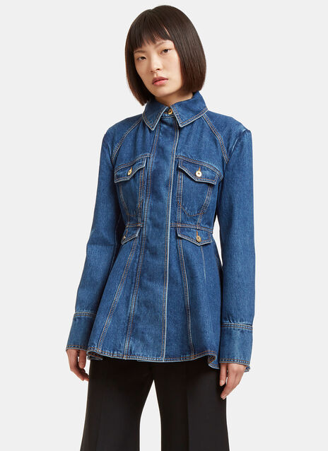 Pro Protest Peplum Denim Jacket