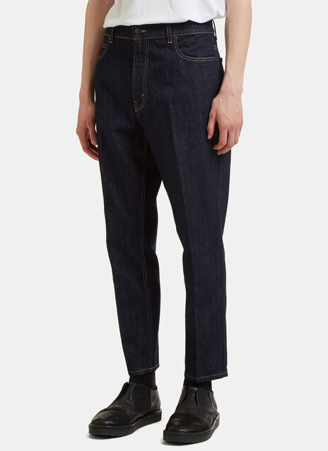 Central Pleat Cropped Jeans