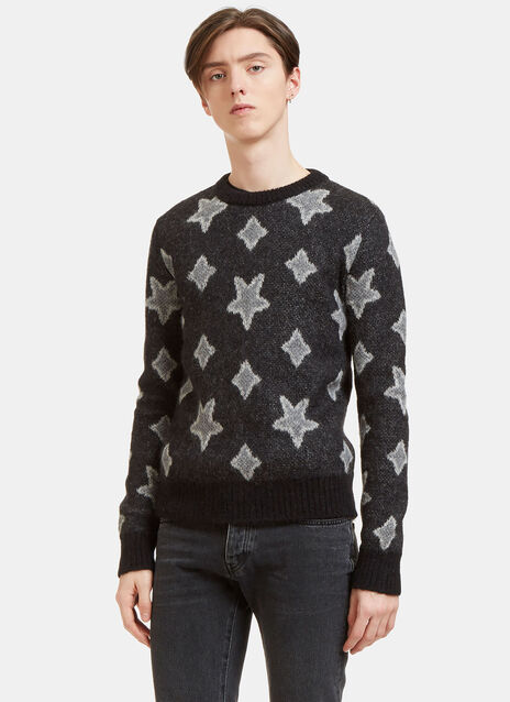 Star Mohair Crew Neck Sweater