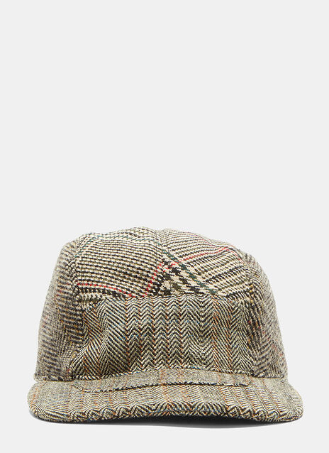 Mixed Check Tweed Cap
