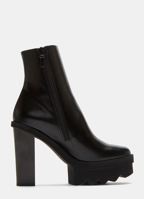 Sawtooth Platform Ankle Boots
