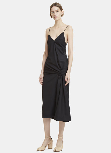 V-Neck Samba Drape Dress