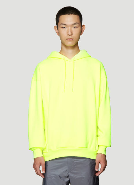 Martine Rose Embroidered Logo Hooded Sweatshirt in Yellow