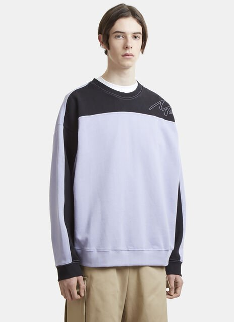 Martine Rose Collapsed Crew Neck Sweatshirt