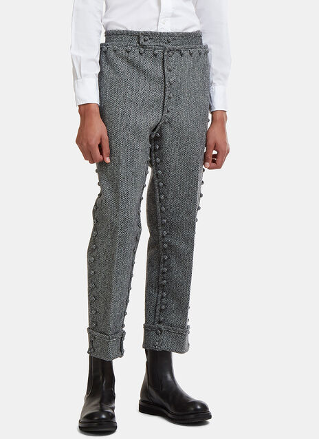 Button Down Detachable Bonded Pants