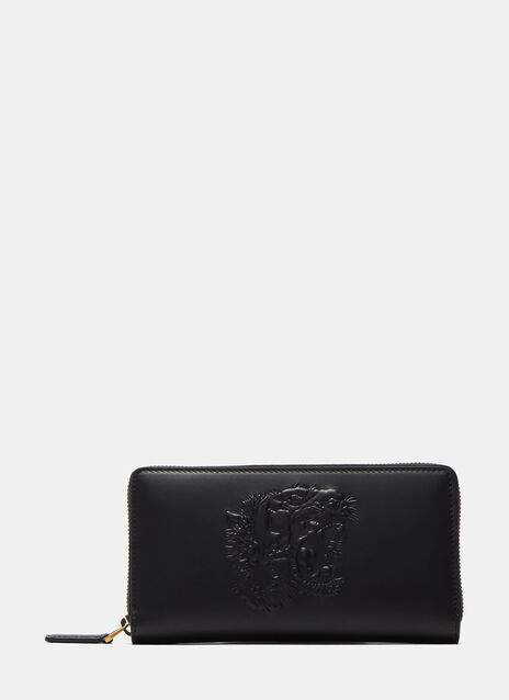 Tiger Embossed Zip Around Wallet