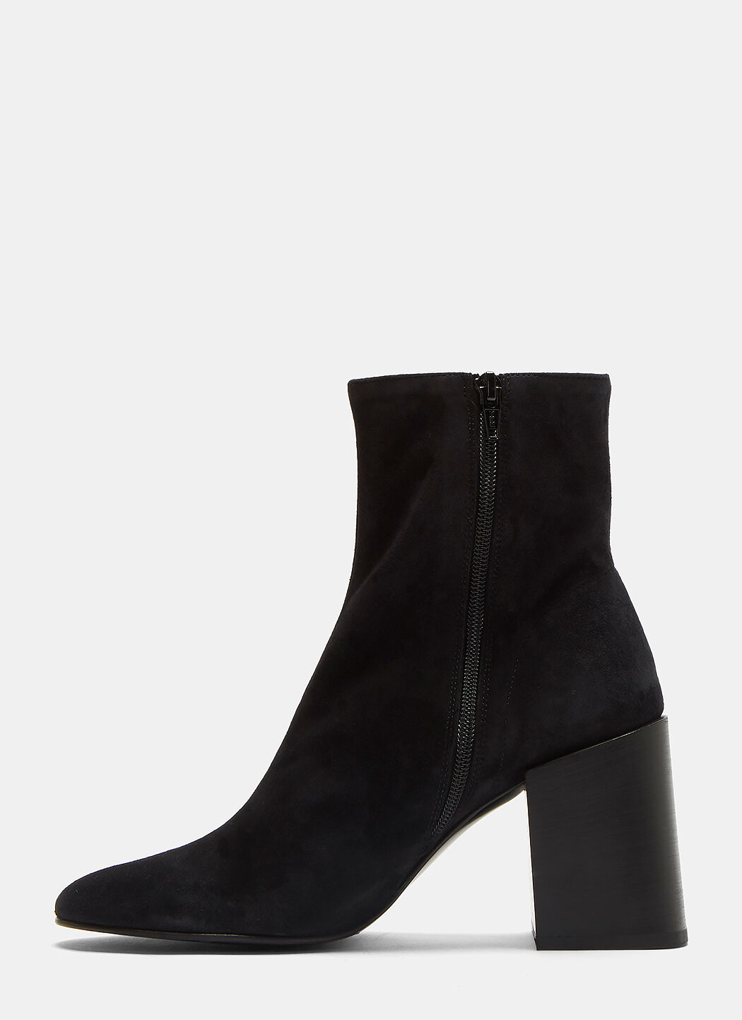 ACNE STUDIOS SAUL REVERSE SUEDE ANKLE BOOTS IN BLACK ...