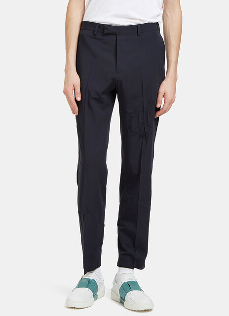 Creased Slim Leg Pants
