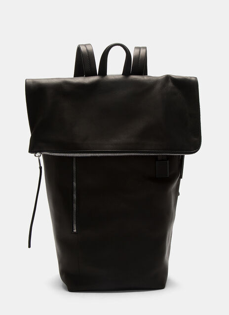 Oversized Leather Duffle Backpack