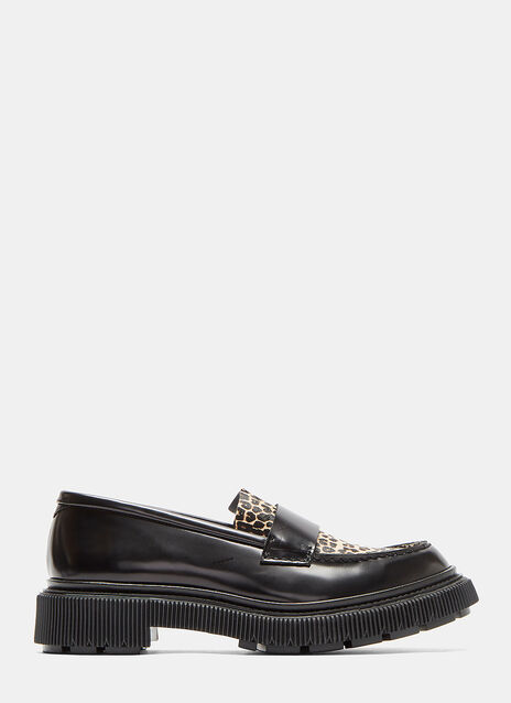 Type 102 Leopard Print Loafer Shoes