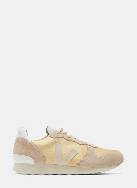Holiday Low-Top Satin and Suede Sneakers