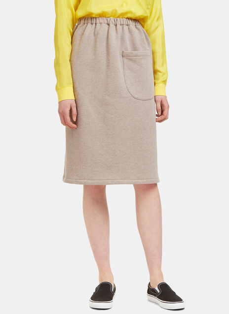 Patch Pocket Jersey Skirt