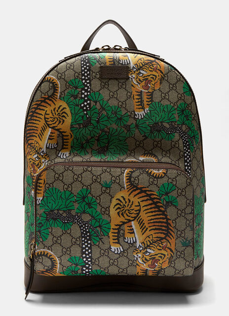 Bengal Tiger Print GG Supreme Backpack