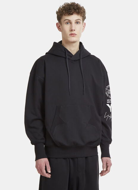 Y-3 Logo Sleeve Hooded Sweater