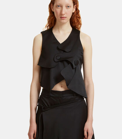 Asymmetric Layered Vest Top