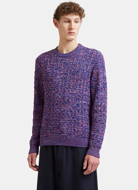 Missoni Intarsia Knit Crew Neck Sweater