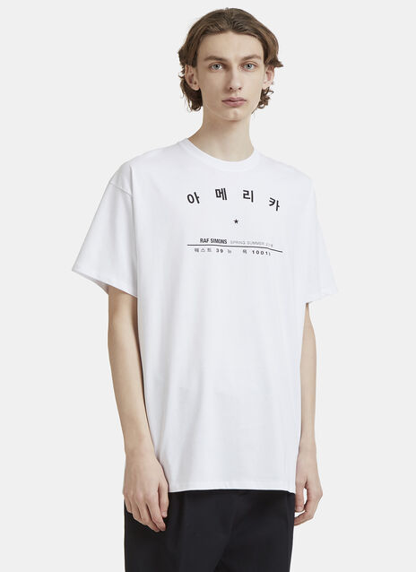 Raf Simons Tour Dates T-Shirt