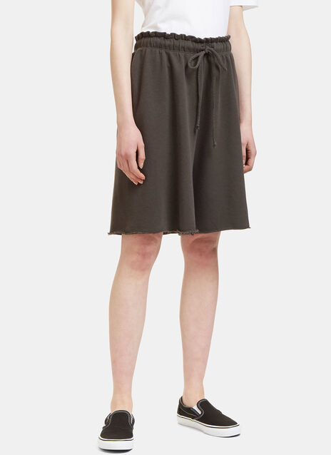 Miter Raw-Edged Shorts