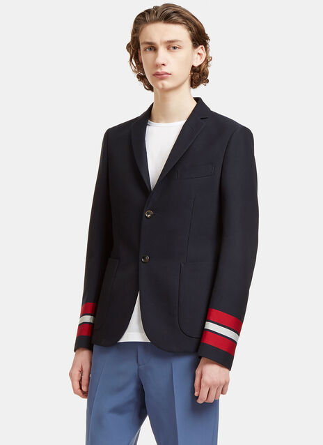 Striped Cuff Cambridge Blazer Jacket