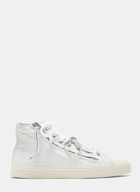 Rivington Worn Zip-Up Mid-Top Sneakers