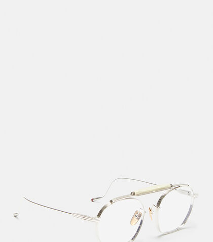 JACQUES MARIE MAGE Victorio Round Frame Sunglasses in Silver